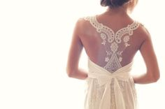 lace back. gorg wedding gown