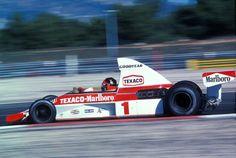 Emerson Fittipaldi - McLaren Ford Cosworth DFV - Marlboro Team Texaco - LXI Grand Prix de France (Le Castellet) - 1975 World Championship for Drivers, round 9 Le Mans, Bruce Mclaren, Mclaren F1, Ferrari, F1 Racing, Racing Team, Emerson, Grand Prix, Nascar