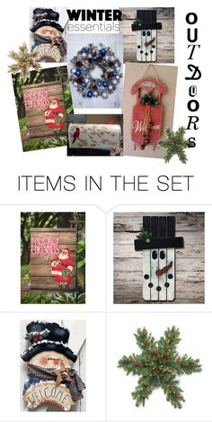 """""""Handmade   Handpainted Winter Essentials"""" by denisebailey-kklprimitives ❤ liked on Polyvore featuring art and faap"""