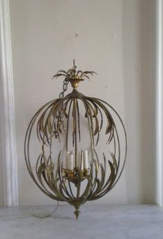 Now that's a statement piece... Brass Chandelier Wheat Sheaf Pendant Fixture by GreenZebre on Etsy