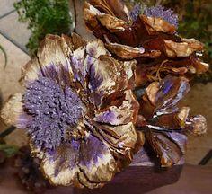 Handmade Pine Cone Flowers