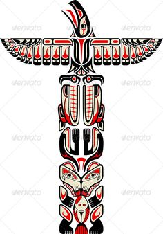 Haida Style Totem Pattern #GraphicRiver Haida style totem pattern created with animal images. EPS 8.0. Created: 7July13 GraphicsFilesIncluded: JPGImage #VectorEPS Layered: No MinimumAdobeCSVersion: CS Tags: american #animal #art #bear #black #culture #decorative #design #eagle #haida #illustration #indian #indigenous #inuit #native #painting #pattern #red #symbol #tattoo #teeth #totem #tribal #vector #white #wings #wolf