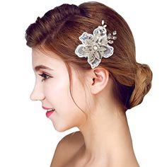 Wedding Hair Flowers, Flowers In Hair, Flower Hairstyles, Wedding Hairstyles, Hair Styles, Fashion, Party Hair, Lace Flowers, Bridal