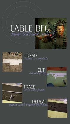 Cable cosplay tutorial, BFG  #cosplay #cosplaytutorial #femcablecosplay #cable #cablecosplay