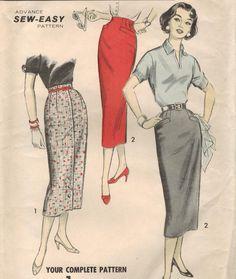 1950s+Advance+8286+UNCUT+Vintage+Sewing+Pattern+by+midvalecottage,+$14.00