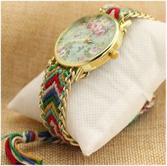 Floral, braided and colorful= Casual chic Casual Chic, Bracelet Watch, Coin Purse, Braids, Colorful, Wallet, Purses, Bracelets, Floral