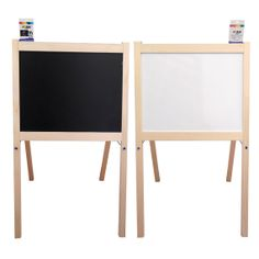 Children's Wooden Toy White Board & Black Board by Obique on Etsy, £24.99