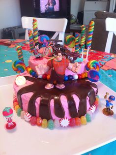 Wreck It Ralph cake I made for my daughter's 4th birthday!
