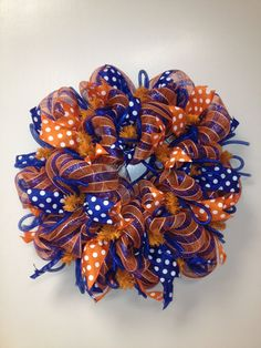War Eagle Auburn Football Deco Mesh Wreath by SMWreaths on Etsy, $60.00