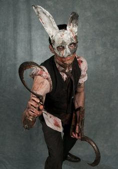 Awesome Bioshock Splicer costume. i have the bunny mask from Walmart from a couple of years ago. This could totally work.