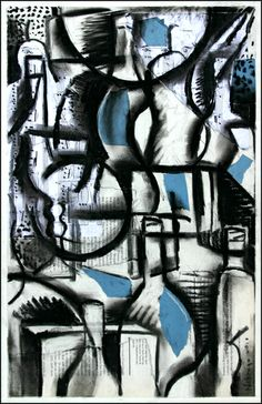 Cubist Still Life l  2010, Charcoal and collage on paper. ©2014 Mark Nobriga marknobriga.com  All rights reserved.