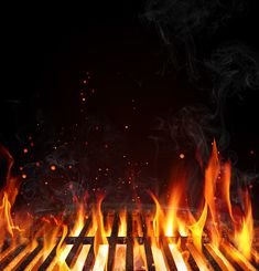 Grill Background – Empty Fired Barbecue On Black - Modern Food Graphic Design, Food Menu Design, Food Backgrounds, Carne Asada, Bbq Party, Romantic Dinners, Photo Illustration, Food Truck, Barbecue