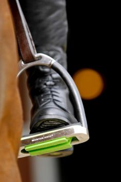 Mountain Horse SCS3 Lite Stirrup Treads-Grooves in the stirrup tread interact with grooves in the sole of SCS3 boots to help prevent the foot from slipping forward, without locking it in position.