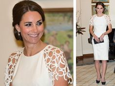 Consider adding sleeves to B&W striped dress.    Adding sleeve to strappy outfits. Kate. Lace sleeve.