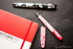 The Noodler's Neponset features a flexible, music nib, great for big writing.