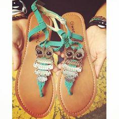 owl sandals so cute!!