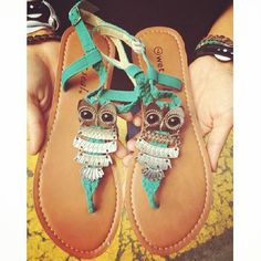 owl sandals so cute!!