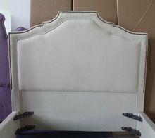 Blanco tapizada soft cama de tejido muebles de bien diseñado estilo para cómodo home and hotel(China (Mainland))