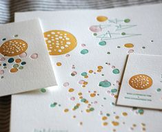I love this letterpress stationary. My son loves anything about the planets, and that is what this reminds me of.