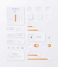 Neumorphic Soft UI Kit - NEU Minimal website design The Neumorphic Soft UI lIbrary. Neumorphism is t Web Design Mobile, App Ui Design, Interface Design, Page Design, Flat Design, User Interface, Design Design, Webdesign Inspiration, App Design Inspiration