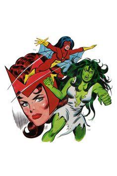 Women of Marvel Pin Up Poster 70's Art She Hulk Witch | eBay