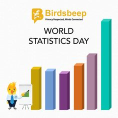 Did you know? 1. Statistics are methods used to collect, analyze, present, and interpret data 2. Statistics was created in the 8th century by the mathematician Al-Kindi from Iraq #WorldStatisticsDay #BirdsBeep