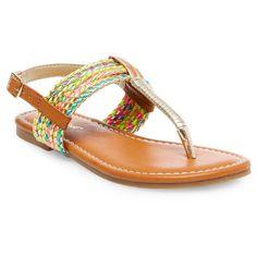 Girls' Nikko Thong Sandals Cat & Jack - Multi-Colored 13, Girl's