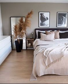 Home Decor Bedroom .Home Decor Bedroom Bedroom Inspo, Home Decor Bedroom, Bedroom Inspiration, Diy Bedroom, Scandi Bedroom, Bedroom Ideas, Cheap Bedroom Decor, Master Bedroom, Design Inspiration