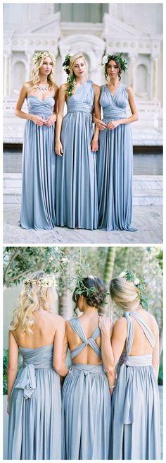Special Blue Chiffon Bridesmaid Dress,Sleeveless Bridesmaid Dress,Free #BridalDresses #WeddingGowns #Wedding #WeddingDresses