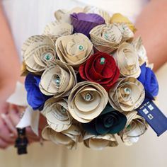 neat idea... pages from letters, favorite books, etc. DIY boquet