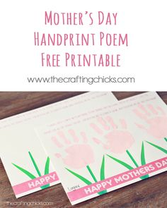 Last minute Mother's Day gift idea - free printable!