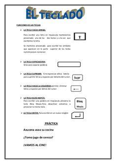 FUNCIONES DE LAS TECLAS  LA TECLA HACIA ARRIBA: Para escribir una letra en mayúscula mantenemos presionada una de las dos...