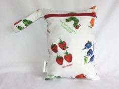 "Wet bag in very hungry caterpillar print! Perfect travel size 9""x12"". Perfect bag with multiple uses by Poshteriors on Etsy"