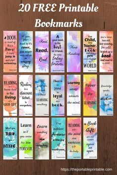 21 Ideas For Craft Quotes Hobbies 21 Ideen für Bastelzitate Hobbys Bookmarks Quotes, Paper Bookmarks, Watercolor Bookmarks, Watercolor Quote, Kids Watercolor, Diy Marque Page, Creative Bookmarks, Handmade Bookmarks, Bookmarks Diy Kids