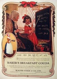 Vintage Food Advertisements of the (Page Retro Ads, Vintage Ads, Vintage Prints, Vintage Food, Vintage Kitchen, 1920s Food, Baker And Co, Bakers Chocolate, Ice Cream Candy