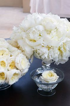 Fluffy white peonies are so incredibly elegant, we just can't get enough!