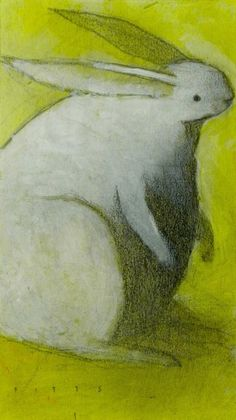 White Rabbit with Yellow by *SethFitts on deviantART