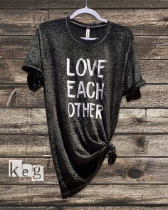 Love Each Other - Black Acid Wash Bella + Canvas Unisex Tshirt