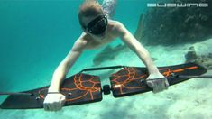 Ever wanted to be a fish? SUBWING...underwater madness! The new underwater sport!
