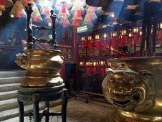 Serenity in the city at Man Mo Temple. #HongKong #travel #temples