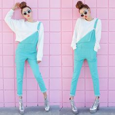 Mint+pink (by Sora Park) http://lookbook.nu/look/4677305-mint-pink