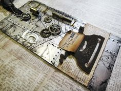So cool! This is a Tim Holtz tutorial using metal flashing tape,  I always wondered what you used that stuff for. Beautiful!