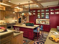 Cozy Country/Rustic Kitchen by Suzanne Tucker