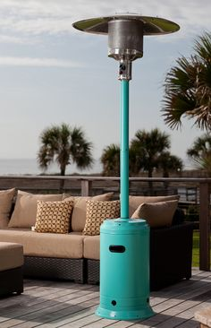 Aqua Blue Powder Coated Patio Heater...for Those Chilly Nights By The Shore