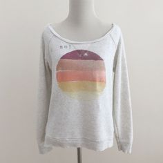 AE   Gray Graphic Sweatshirt Gray graphic sweatshirt from American Eagle Outfitters. Size M. No damage or signs of wear. No trades, holds, or off-Posh transactions. Lowballers will be blocked. Happy poshing! 🎀 American Eagle Outfitters Sweaters