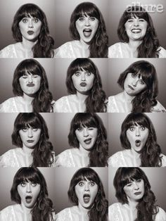 Zooey Deschanel media gallery on Coolspotters. See photos, videos, and links of Zooey Deschanel. New Girl, Pretty People, Beautiful People, Cover Shoot, Louise Brooks, Poses References, Face Expressions, Famous Faces, Girl Crushes