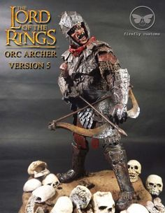 "LOTR Orc ""Face Ring"" Archer Ver.5 Custom Action Figure"