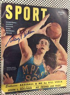 377985bf9 Minneapolis Lakers Sport 1950 Magazine Signed George Mikan George Mikan