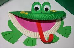 frog crafts for kids - Site about Children Kids Crafts, Daycare Crafts, Classroom Crafts, Toddler Crafts, Projects For Kids, Classroom Themes, Art Projects, Paper Plate Art, Paper Plate Animals
