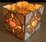 Companion Cube Candle Holder by ~GhostyBoo on deviantART